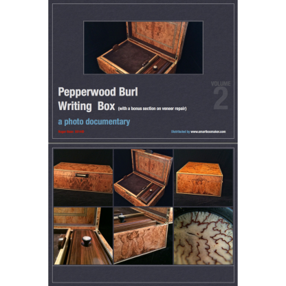 """Pepperwod Burl Writing Box"" by Roger Bean"