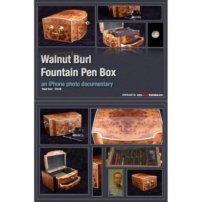 """Walnut Burl Fountain Pen Box"" by Roger Bean"