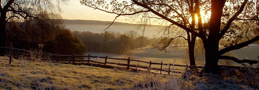 Shropshire Acton Scott winter sunrise