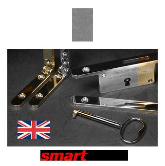 smartWare - premium quality box hardware, smartHinge and smartLock, polished brass, rhodium and gold plate